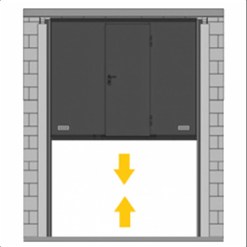 Puerta De Guillotina Con Peatonal Incorporada Rubio